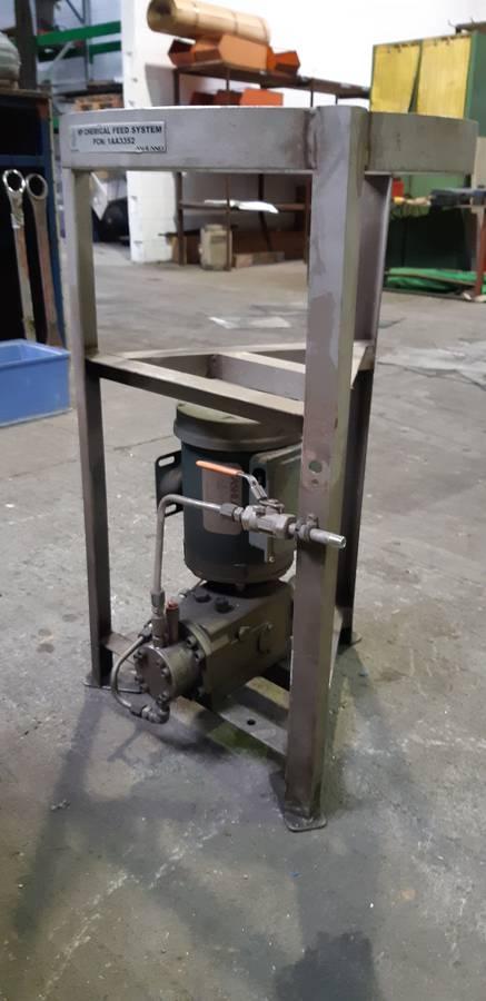 High Pressure Chemical Feed Pump & Motor   number8 bid   number 8