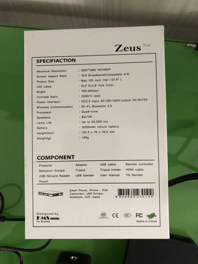 Zeus Mini Projector | number8 bid | number 8 solutions Ltd