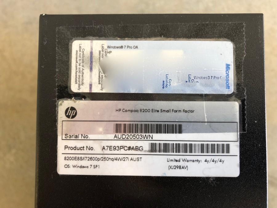 HP Compaq Elite 8200 SFF PC | number8 bid | number 8